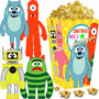 Kit Imprimible Yo Gabba Gabba Gaba Cotillon Y Candy Bar 2x1
