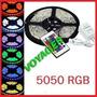 Tira Led Rgb 5050 5mts Siliconada + Fuente + Control