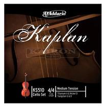 Encordado Daddario Kaplan Ks510 4/4m Para Violoncello Cello