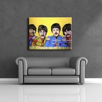 Cuadro The Beatles Acrílico Pintado A Mano 60x80cm