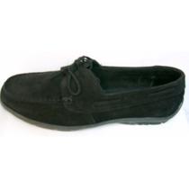 Mocasines Nautico Zapatos Cuero Vacuno Gamuza Suela Cosida