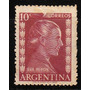 Argentina, 10 Centavos Eva Perón Con Reentintado