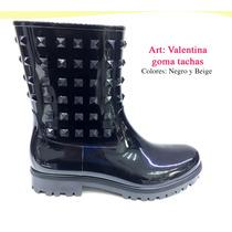 Botas De Lluvia Goma Mujer Moda Comoda Getsemani Shoes Tacha