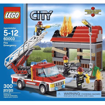 Lego City 60003 Fire Emergency 301 Piezas