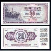 Yugoslavia Billete De 20 Dinara Año 1978 Sin Circular