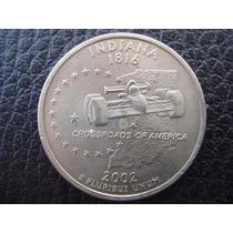 U. S. A. - Indiana, Moneda De 25 Centavos (cuarto), Año 2002