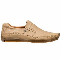 Zapato Panchas Ringo Hombre Cuero Natural Beige Cocido
