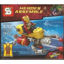 Superheroes Con Vehículos Para Armar