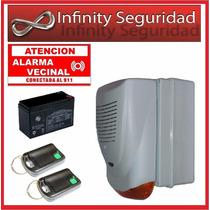 Alarma Barrial Vecinal Ups Bateria 200 Mts Alcance Lineal