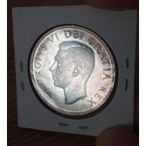 Moneda Canada De Plata De 1 Dolar 1950 Rey Jorge Vi