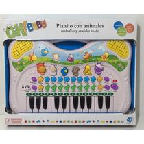 Teclado Para Bebes Con Animales Luces Y Sonidos