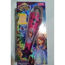 Microfono Infantil Princesa Sofia Reproduce Tu Voz P/ Regalo