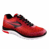 Zapatillas Topper Stretch Ii/rojo/ngro Running +envio Gratis