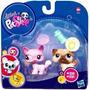 Litlest Pet Shop 2 Pets Gato Y Perro Pug 1312/1313 Hasbro