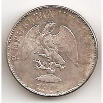 Mexico Republica, 10 Centavos, 1905 Mo M. Plata. Unc