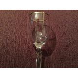 Copa Licor Cristal Bohemia 15.5cm Altura, Borde Dorado