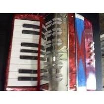 Mini Acordeon A Piano 17 Teclas 8 Bajos Banda De Musica