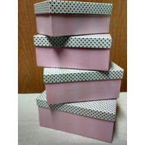 Cajas Artesanales De Carton Forrada X4 Unidades