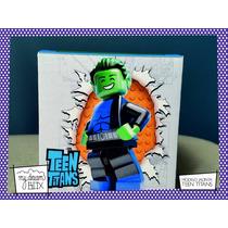 Souvenir Event Cumple Caja Lego Teen Titan Lego Chico Bestia