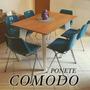 Mesa Madera Diseño Retro Laqueada Comedor Vintage Lustre