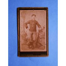 Fotografia Antigua Carte De Visite Militar Italiano 1877