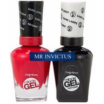 Sally Hansen Miracle Gel Sin Cabina + 1 Top Coat En Invictus