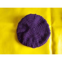 Boinas De Lana, Tejida A Crochet