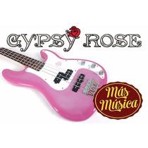 Gypsy Rose Bajo Electrico Para Niña 3/4 Rosa Violeta Negro