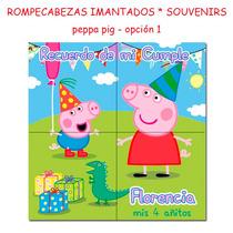 10 Souvenirs Cumple Puzzle Rompecabezas Con Iman Peppa Pig
