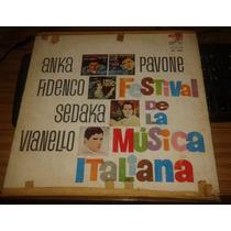 Festival De La Musica Italiana Vinilo Argentino