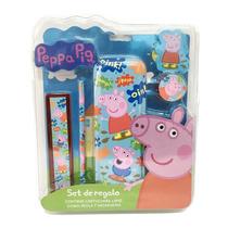 Peppa Pig Set De Regalo Escolar Con Licencia Original