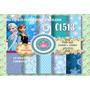 Kit Imprimible Fondos Frozen 10 Diseños + Plantillas Moldes