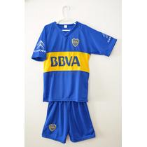 Nuevo Conjunto Boca 2016 !! Camiseta+ Short Para Niños