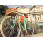 Cajon De Madera P/ Bicicleta Canasto Accesorio Hocico Rosa