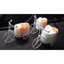 10 Souvenir Triciclo 15 Años Vintage 3 Flores Casamiento