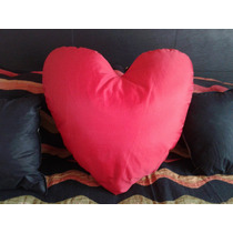Hermoso Almohadon Grande Corazón Tela Relleno Micro Perlas