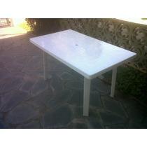 Mesa Plastica Rectangular 140 X 78 Cm. Directo De Fábrica!!!