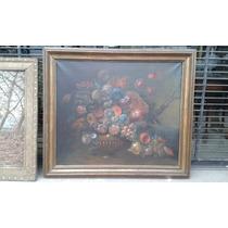 Pintura Al Oleo , Vaso Con Flores Firmada Poissoni