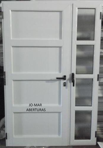 Portada Puerta De Aluminio Blanco Linea Modena X 2