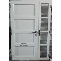 Portada, Puerta De Aluminio Blanco Linea Modena 1.30 X 2.00