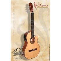 Guitarra Electrocriolla La Alpujarra Modelo 86kec Media Caja