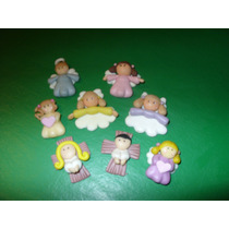 Aplique Miniatura De Angelitos En Porcelana Fría