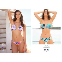 Conjunto Bikini Triangulo Regulable Floral Andressa