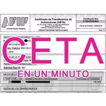 Formulario Afip Ceta Seta Transferencia Del Automotor Online