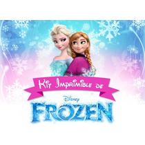 Kit Imprimible Frozen- Tarjetitas, Candy, Bolsitas