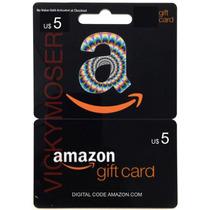 Código Original Amazon Gift Card U$5 Para Cuenta Americana