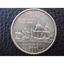 U. S. A. - Virginia, Moneda De 25 Centavos (cuarto), 2000