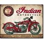 Cuadro Carteles Antiguos Chapa 60x40cm Moto Indian Mot-064