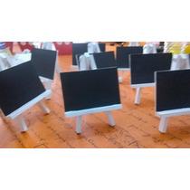 5 Mini Atriles Pizarras Ideal Número De Mesa O Mensajes!