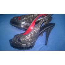 Zapatos Fiesta Mujer N°36 Taco Mide 11cm. Plataforma 2.5cm.